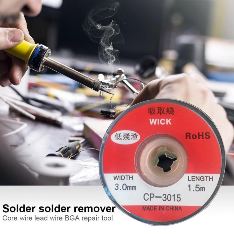 1.5m Desolder Braid Solder Remover Low Residue Tin Strip BGA Repair Tool Avoid High Temperature Of Electric Heating Pad