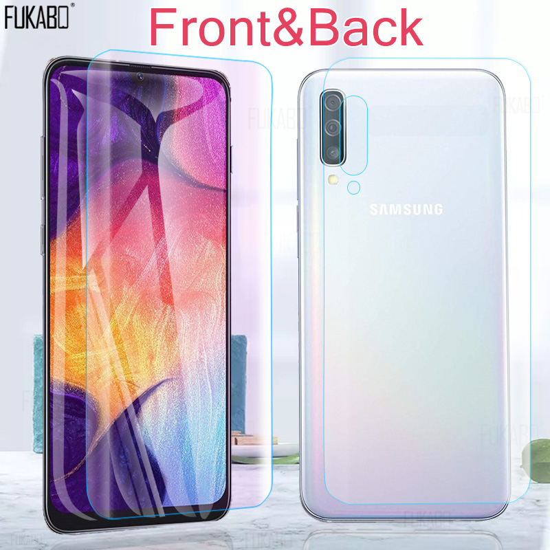 Hydrogel-Film Note Back Not-Glass Front Samsung A50 for Galaxy A50/A70/A10/.. 15D M30-M20