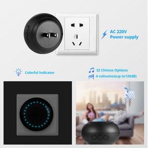 Image 3 - KERUI M523 אלחוטי חכם פעמון ערכת אבטחת בית עמיד למים דלת כפתור צבעוני LED שוכנו פעמוני פעמון 433MHZ כפתור