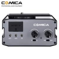 COMICA CVM AX3 Dual XLR/6.35MM/3.5MM Microphone Audio Mixer Adapter for Canon Nikon DSLR camera camcorder for shooting videos