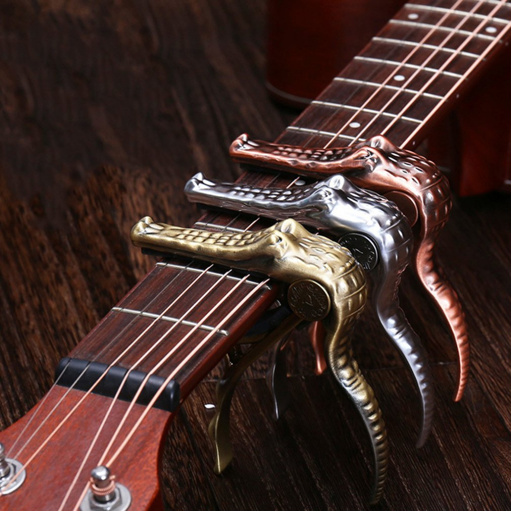 Alice Kirsite Crocodile Clamp Guitar Capo Quick Change Clamp Key Acoustic Classic Guitar Capo For Tone Adjusting High Quality