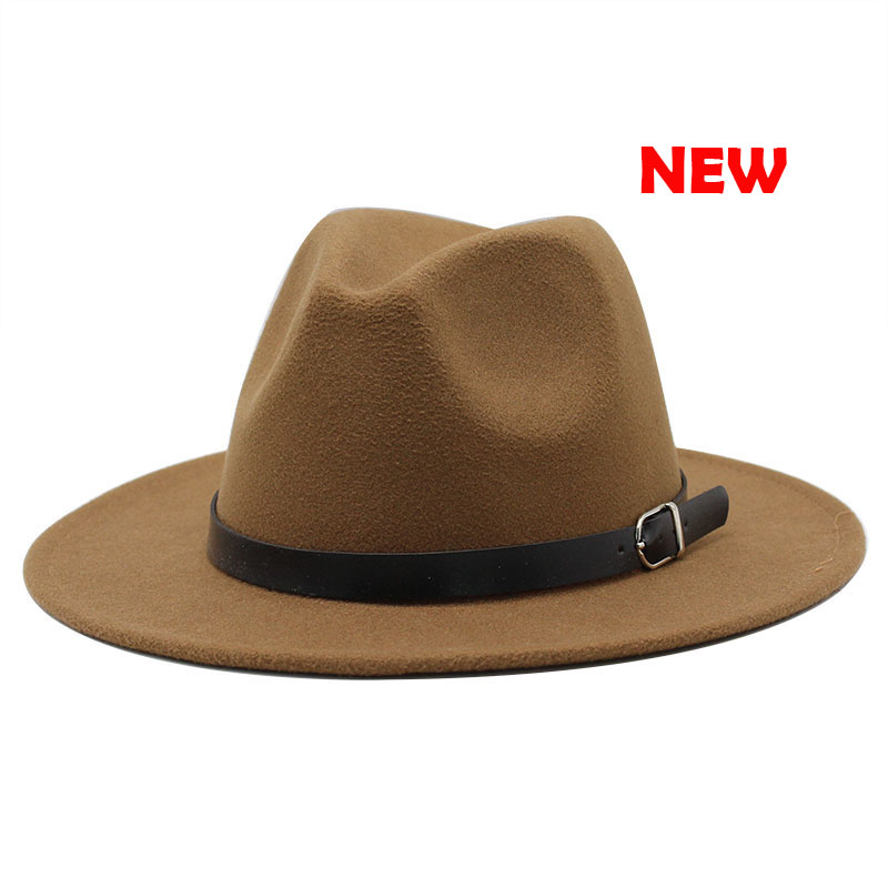 Classic British Fedora Hat Men Women Imitation Woolen Winter Felt Hats Fashion Jazz Hat Chapeau Wholesale 11