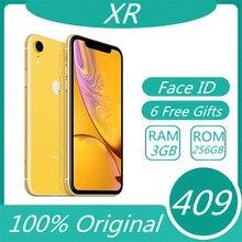 IPhone XR – téléphone portable avec identification faciale Apple XR, écran LCD Liquid Retina, 64 go/128 go/256 go de ROM, d'occasion