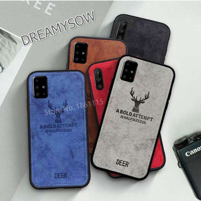 Fabric Case For Samsung Galaxy A51 A50 A70 M30S A10S A20S Cover Cute Cloth TPU Frame Bumper Funda Smartphone Shell Coque Cover