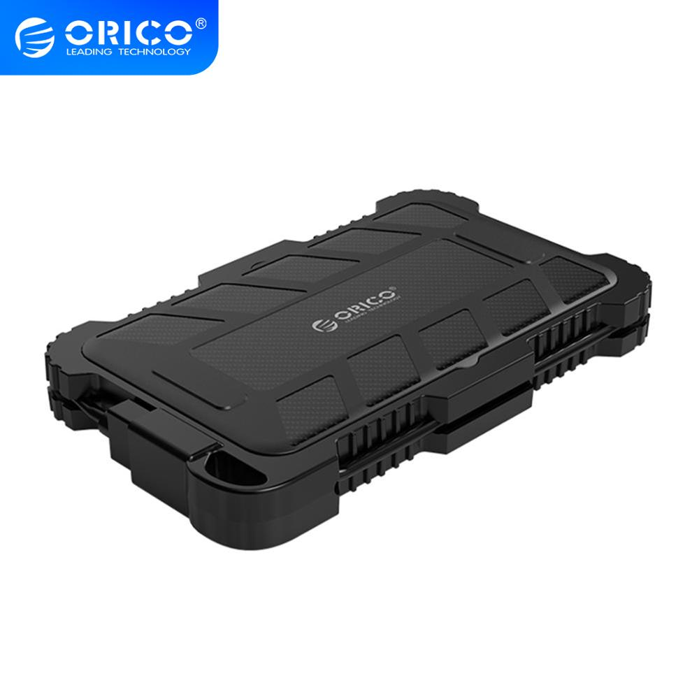 ORICO 2.5 Inch USB3.0 HDD Case with Hook For Outdoor Waterproof Shockproof Dustproof Hard Disk Box For HDD SSD Enclosure image