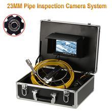 23 мм/17 мм/6,5 мм объектив промышленный эндоскоп 7 дюймов монитор 20 м кабель промышленный эндоскоп канализационная труба камера видеонаблюдения