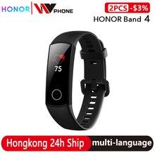 Original Honor Band 4 Bracelet intelligent 50m couleur imperméable à leau ouch écran fréquence cardiaque sommeil Snap Bracelet intelligent