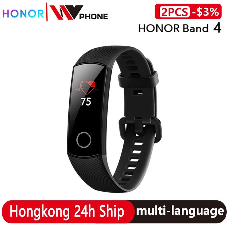 Оригинальный Смарт-браслет Honor Band 4, 50 м, водонепроницаемый цветной сенсорный экран, пульсометр, смарт-браслет