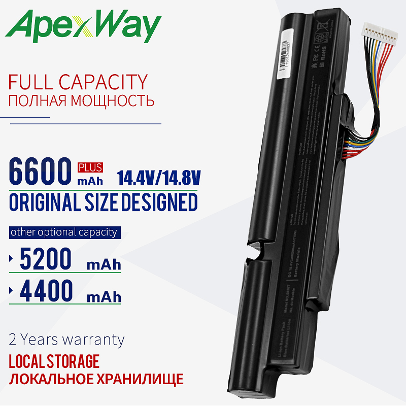 Apexway 4400mAh Laptop Battery for ACER A3INR18/65-2 AS11A3E AS11A5E for Aspire TimelineX 3830T 3830TG 4830T <font><b>4830TG</b></font> 5830T 5830TG image