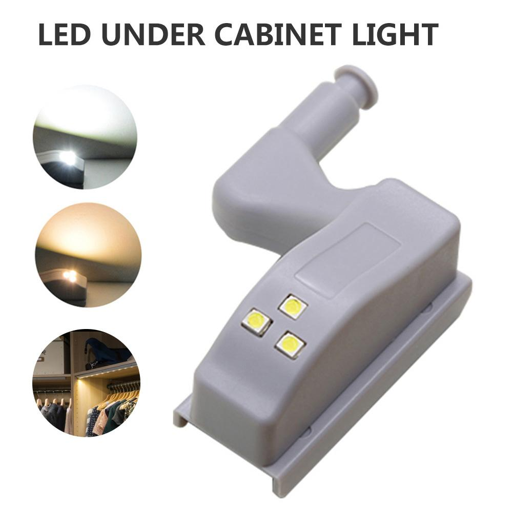 LED Under Cabinet Light Universal Wardrobe Light Sensor Led Inner Hinge Lamp For Cupboard Closet Kitchen Without Battery