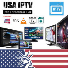 Suscripción USA IPTV m3u Canadá Reino Unido India árabe Alemania Francia 6000 + canales en vivo para Smart Android TV M3U MAG Engima2 IPTV(China)