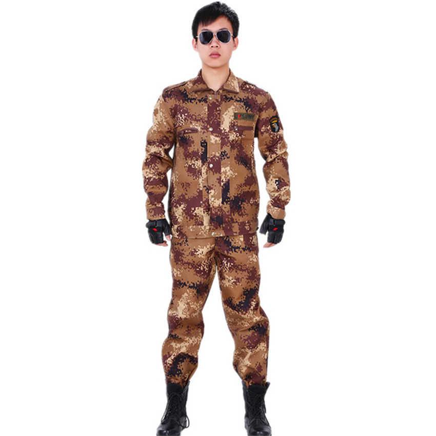 Homens soldado do exército militar uniforme camuflagem força especial combate-comprovado jaqueta calças terno disfarce airsoft roupas táticas