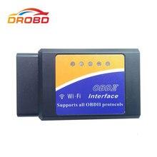 OBD ELM327 V1.5 Wifi apoya a todos en mando Super MINI ELM 327 versión 1,5 OBD2 / OBDII para Android /IOS /PC de códigos para coche escáner
