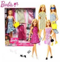 Оригинальный вечерние Барби, превосходный набор в подарочной коробке, одежда, обувь, сумки, платье для вечеринок для девушек кукольного дом...