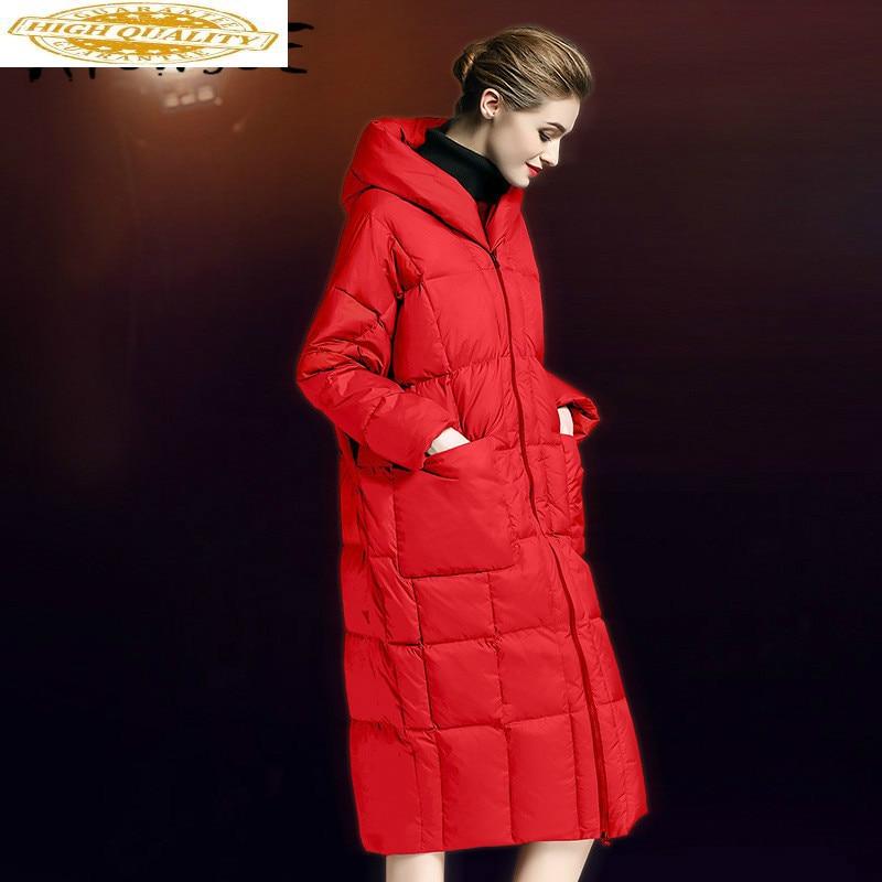 90% White Duck Down Jacket Women Clothes 2019 Winter Coat Women Korean Hooded Puffer Jacket Women Warm Parka 6002 YY2121