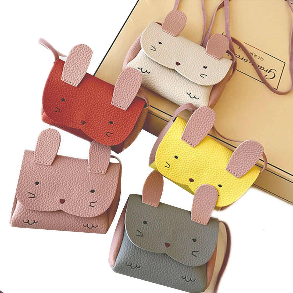 Plüsch Rucksäcke Kinder Kleine Umhängetasche PU Mini Nette Mädchen Kinder Schulter Handtasche Crossbody Geldbörse Geld Baby Kaninchen Taschen