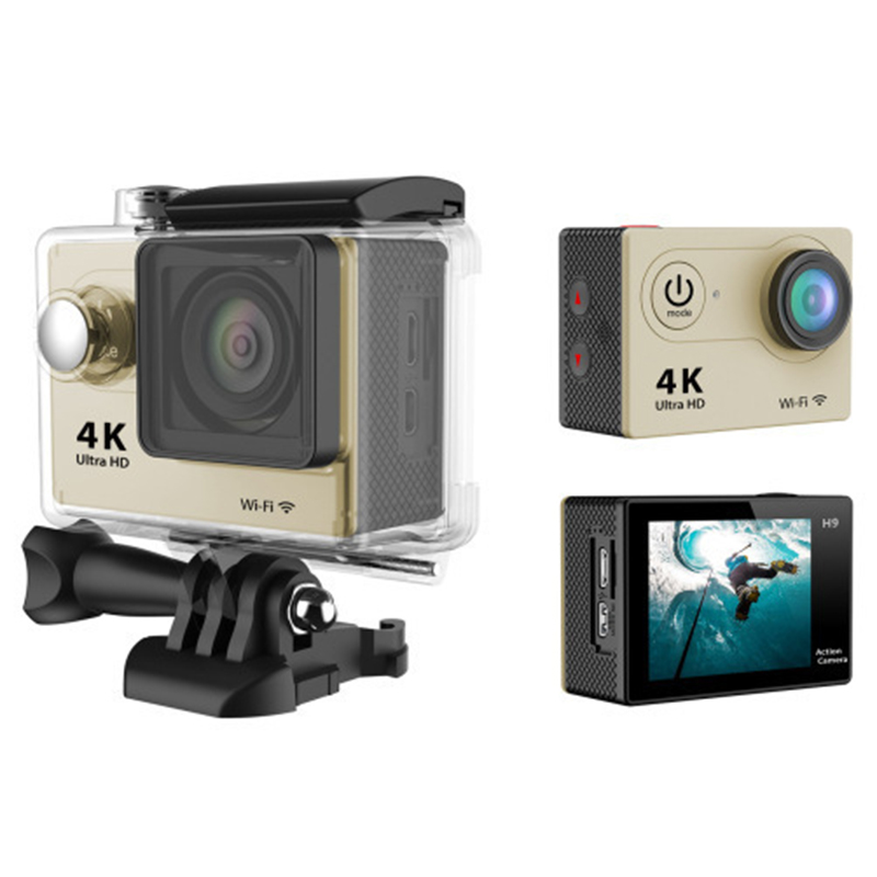 Wifi 4k action camera sport professional underwater waterproof camera DV recorder 4k full hd 1080P outdoor cycling diving camer