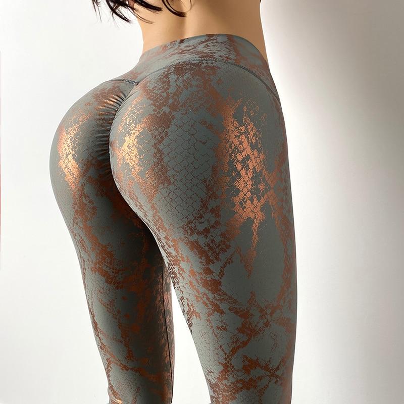New Printing High Waist Quick Dry Stretchy Yoga Pants Women Push Up Running Leggings Sport  Women Fitness Pants MITAOGIRL