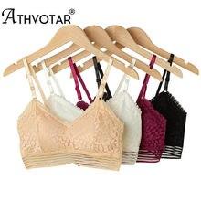 ATHVOTAR – soutien-gorge Sexy en dentelle pour femmes, haut tubulaire sans fil, dos ouvert, Double boutonnage réglable, Lingerie de couleur unie