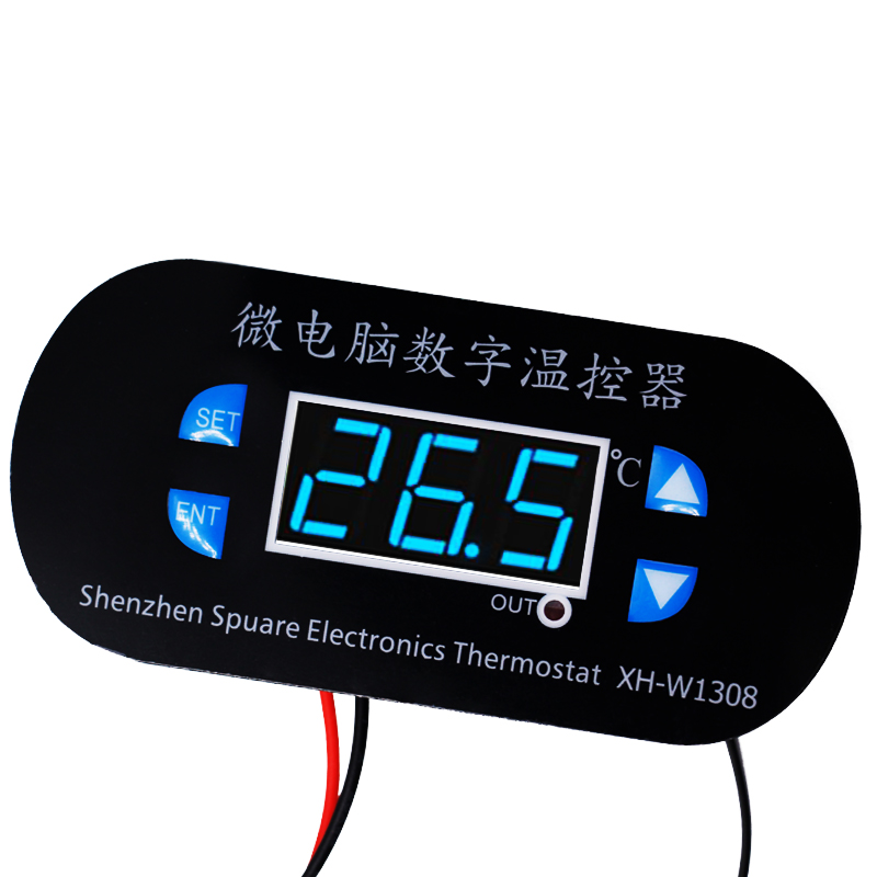 W1308 DC 24V Digital Cool Heat Sensor Temperature Controller Adjustable Thermostat Switch Thermometer Control Blue Light