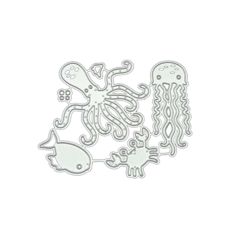 Octopus Cutting Dies Stencil DIY Scrapbook Paper Card Embossing Craft Decor