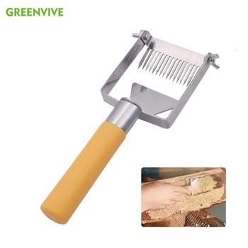 Profesjonalne pszczelarstwo Uncapping widelec ze stali nierdzewnej Honeycomb miód skrobak plastikowy uchwyt Uncapping widelec narzędzia pszczelarskie tanie i dobre opinie UF16PY