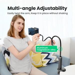 Image 2 - Ugreen טלפון מחזיק זרוע עצלן נייד טלפון Goosneck Stand מחזיק עבור iPhone 8/X גמיש מיטת שולחן שולחן קליפ סוגר עבור טלפון