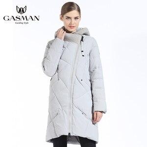 Image 4 - GASMAN 2019 New Winter Collection Fashion Thick Women Winter Bio Down Jackets Hooded Women Parkas Coats Brand Plus Size 6XL 702