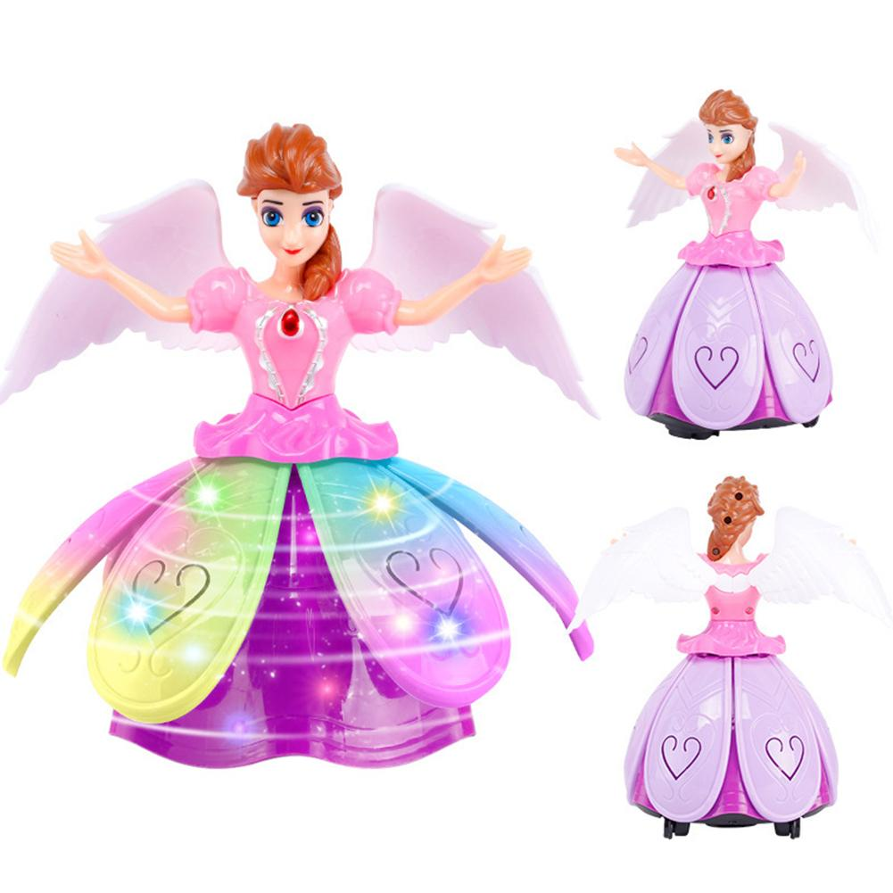 Electric Dancing Female Dazzling Dance Little Princess Robot Children's Toy Music Rotating Singing Dancing Doll
