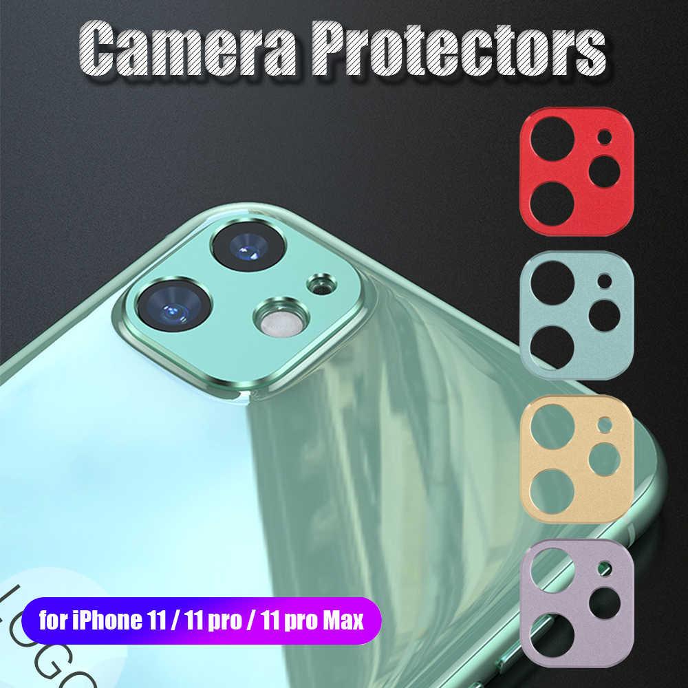 Nuevo colorido Metal aleación lente de la Cámara Protector de pantalla anillo Protector cubierta trasera de la cámara para iPhone 11 Pro Max accesorios del teléfono