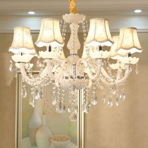 Image 5 - Branco moderno luzes do candelabro de cristal lâmpada lustres para sala estar quarto luminária cristal lustres iluminação
