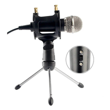 Condenser Microphone For Phone With Stand For Computer Iphone 7 Recording Podcasting Mobile Android Karaoke Microfono