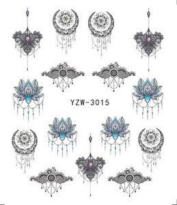 Nail Sticker Black&Gold Flower/Love/Lace/Letter Vine Diamond Necklace Gel Polish Slider Accessories Nail Art Decals
