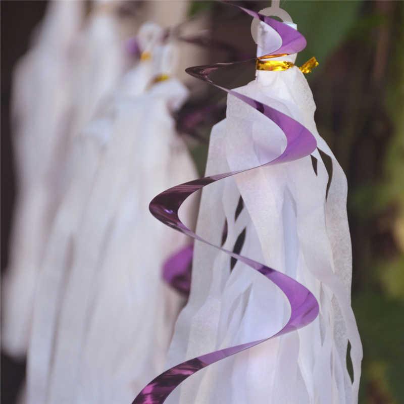 Novo papery redemoinhos banner fontes de festa espiral ornamentos festa cena layout aniversário decoração do casamento
