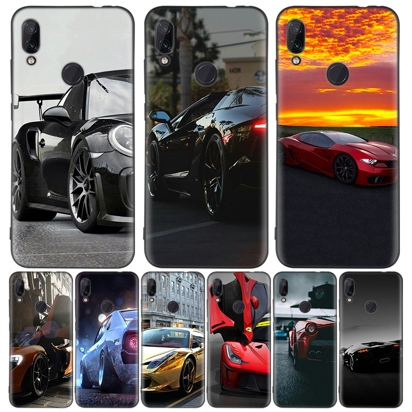 Sport car Cool Black Cover Phone Case for Xiaomi Redmi Note 8T 10 9S 8 7 8A 7A 6A Mi 10 9 8 CC9 K20 Pro Lite Coque image