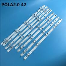 새로운 Kit10 PCS LED 백라이트 스트립 교체 LG T420HVN05.2 innotek POLA2.0 42 인치 A B POLA 2.0 42