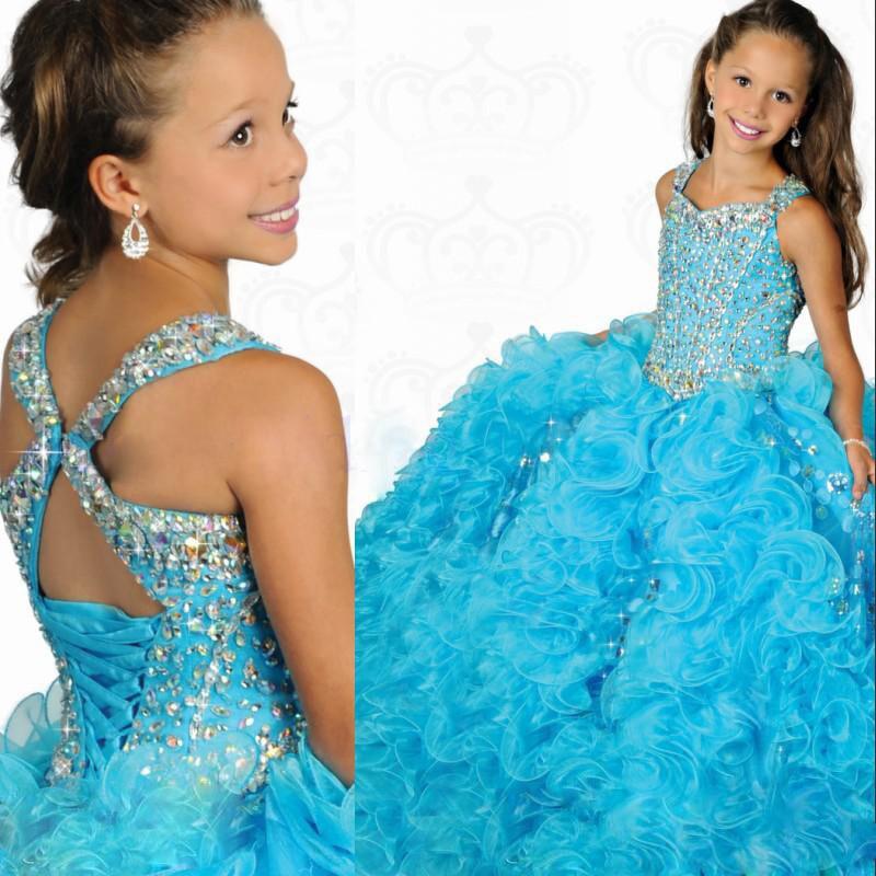 Petite fille Pageant robes 2015 livraison gratuite Vestido de Daminha Para Casamento robe de bal robes de fille de fleurs de mariage