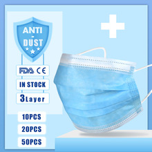 10/20/30/40/50 Pcs 3 Schicht Masken Medizinische masken Einweg Atmen Schutz Gesicht Masken