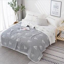6-слойное хлопковое газовое муслиновое одеяло для дивана-кровати, летнее воздушное покрывало с кондиционером для детей и взрослых 150x200 см ...