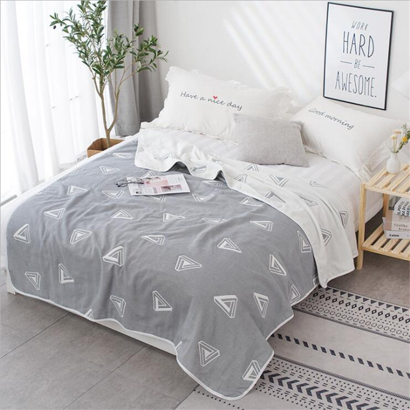 6 Layer Cotton Gauze Muslin Throw Blanket For Sofa Bed Summer Air Conditioning Bedspread For Kids Adults 150x200cm 200x230cm