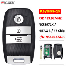 مفتاح سيارة ذكي للتحكم عن بعد بثلاثة أزرار, مفتاح FSK 433.92MHz NCF2971X / HITAG 3 / 47 Chip HY15 لسيارات كيا سورينتو 2018 P/N: 95440 C5600