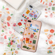 Mohamm 3Pcs Energy Party Cute Cartoon Stickers Decoration Scrapbooking Paper Creative Stationary School Supplies