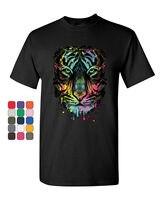 Neon Dripping Tiger Face T Shirt Wildlife Rave Music Tee Shirt 2019 fashion t shirt, 100% cotton tee shirt, tops wholesale tee