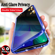 Anti Glare Privacy Screen Magnetic Case For iPhone 11 Pro XS MAX XR Double Sided Glass Metal Bumper 8 7 6 Plus