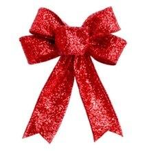23 см большой Рождественский бант елочные украшения для нового года рождественские украшения для дома