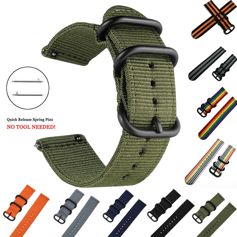 Woven Nylon Watch Sport Strap Band For Samsung Galaxy Gear S3 S2 Classic Bands Amazfit 18mm 24mm 22mm 20mm Fabric Band