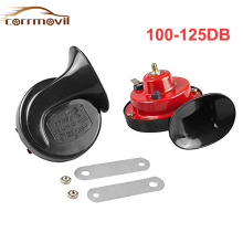 Universal 100-125DB loud Car Snail Air Horn Kit waterproof 12V Double Trumpet Compressor Bocina for motorcycles, ATVs, trucks
