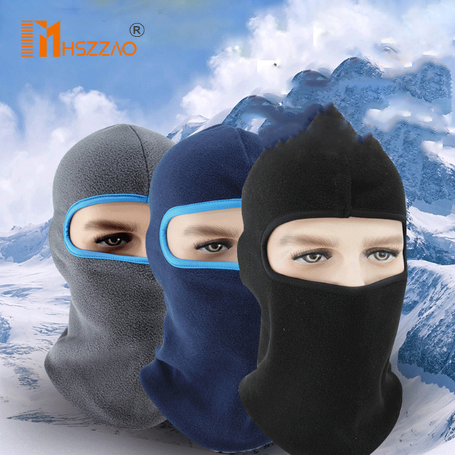 1 Pcs Motorcycle  Polar Fleece Hood Windproof Warm Masked Headgear Face Mask Hat Fleece Soft Equipment Outdoor Riding