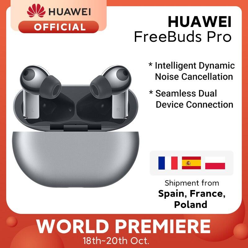 Новое поступление глобальная версия HUAWEI Freebuds Pro Smartearphone Проводная или Qi Беспроводная зарядка ANC функция для Mate 40 Pro P30 Pro