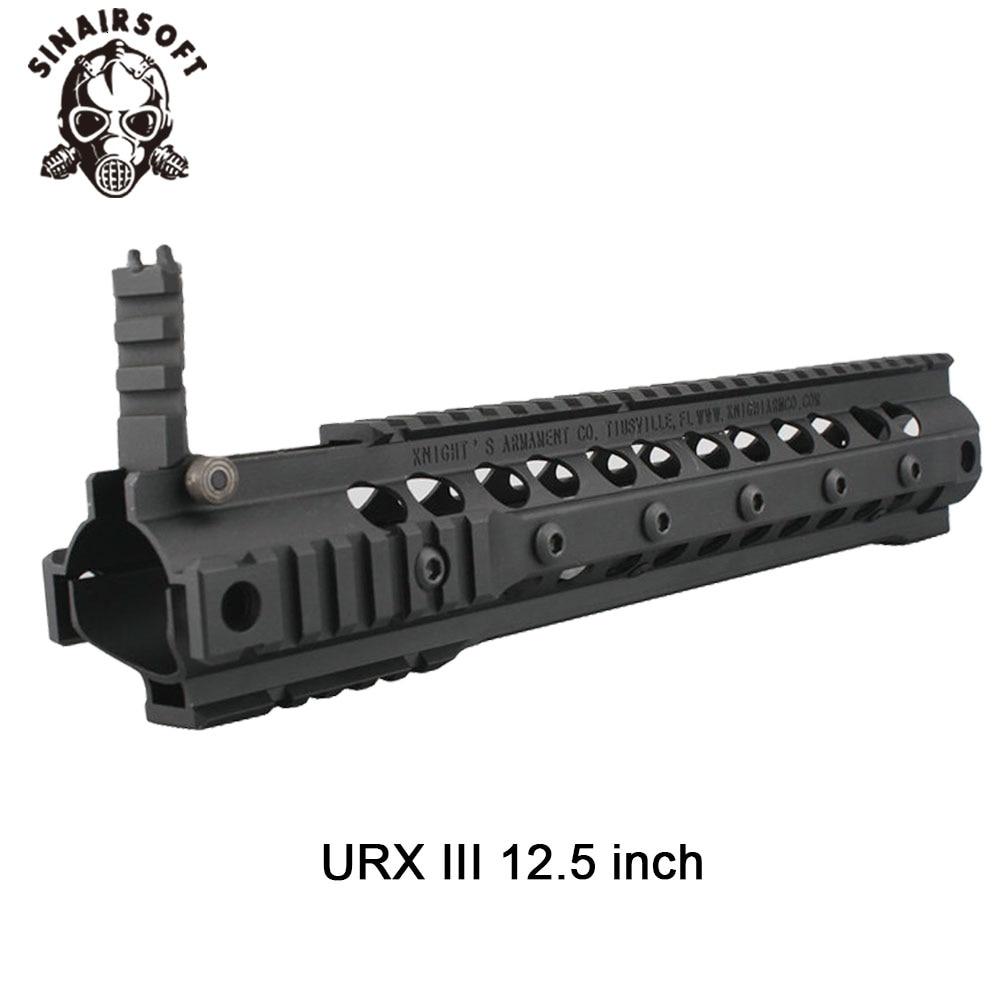 KAC Style URX III 12.5 Inch Black Aluminum Rail Handguard For AEG/GBB Airsoft Hunting Paintball Shooting Accessories